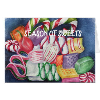 Mixed Christmas Candy Card