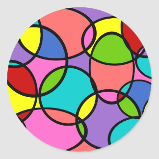 Mixed color bubbles stickers