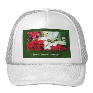 Mixed Color Poinsettias 1 Hat