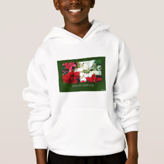 Mixed Color Poinsettias 1 - Seasons Greetings Hoodie