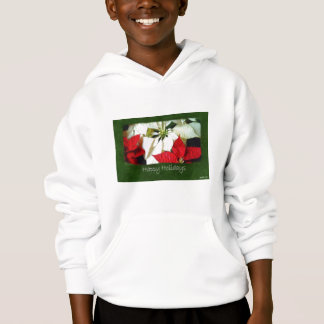 Mixed Color Poinsettias 2 - Happy Holidays Hoodie