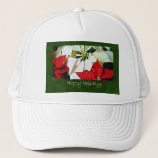 Mixed Color Poinsettias 2 - Happy Holidays Trucker Hat
