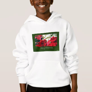 Mixed Color Poinsettias 3 - Merry Christmas Hoodie