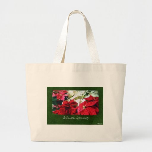 Mixed Color Poinsettias 3 - Seasons Greetings Tote Bags