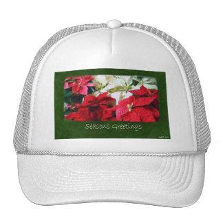 Mixed Color Poinsettias 3 - Seasons Greetings Trucker Hat