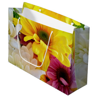 Mixed Daisies Bouquet-Large Gift Bag