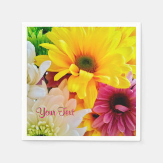Mixed Daisies Bouquet-Paper Cocktail Napkins