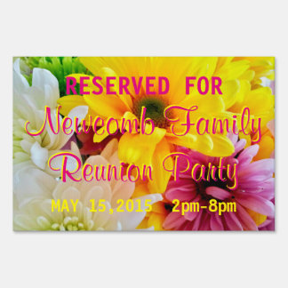 Mixed Daisies Bouquet-Personalized Party Sign S
