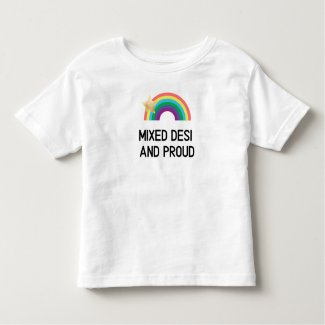 Mixed Desi And Proud Toddler Rainbow T-Shirt