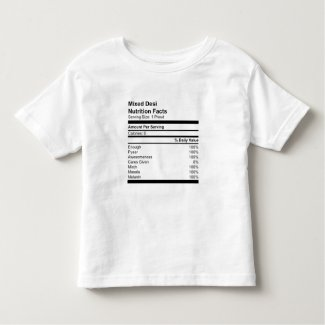 Mixed Desi Nutrition Facts Toddler T-shirt