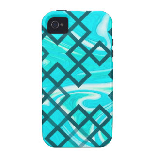 mixed directions aqua iPhone 4 covers