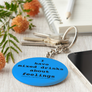 Mixed Drinks Logo Blue Key Chains