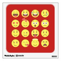 mixed emoji wall sticker