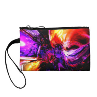 Mixed Feelings Abstract Coin Wallet