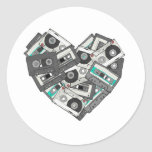 Mixed Feelings Cassette Tape Heart Classic Round Sticker