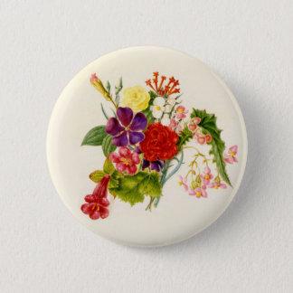 Mixed Flower Bouquet Pinback Button