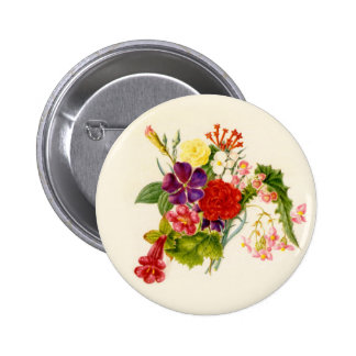 Mixed Flower Bouquet Pinback Button