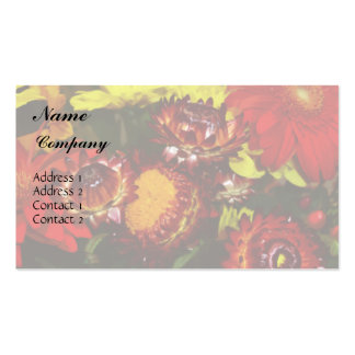 Mixed Flowers Business Card