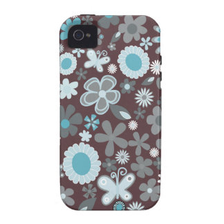 Mixed Flowers Case-Mate iPhone 4 Cases