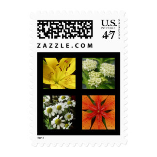 Mixed Flowers Postage Stamp