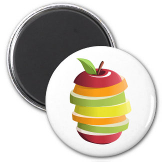Mixed Fruit 2 Inch Round Magnet