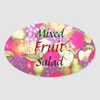 Mixed Fruit Salad Label Pretty Vintage Stickers