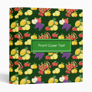 Mixed fruits pattern 3 ring binders