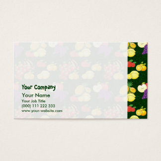 Mixed fruits pattern business card