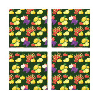 Mixed fruits pattern canvas print