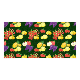 Mixed fruits pattern card