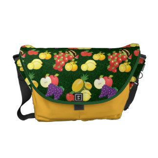 Mixed fruits pattern courier bag