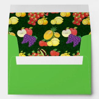 Mixed fruits pattern envelopes