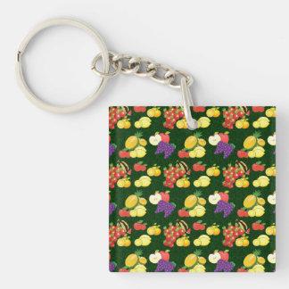 Mixed fruits pattern keychain
