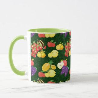 Mixed fruits pattern mug
