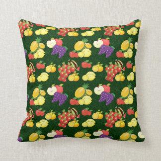 Mixed fruits pattern pillow