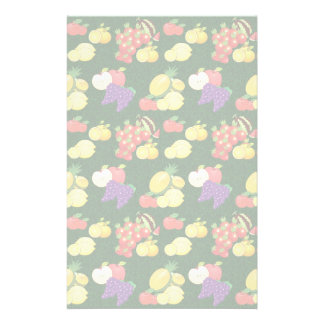 Mixed fruits pattern stationery paper