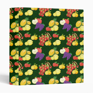 Mixed fruits pattern vinyl binder