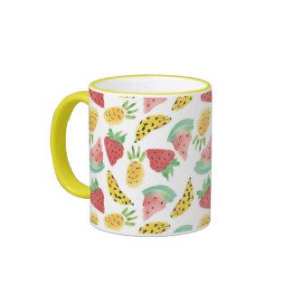Mixed Fruits Ringer Mug