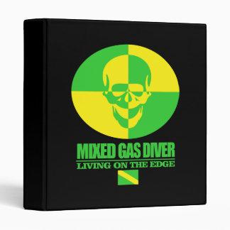 Mixed Gas Diver 3 Ring Binder