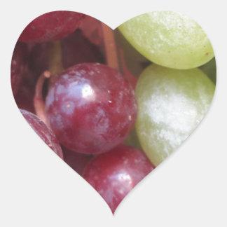 Mixed Grapes Heart Sticker