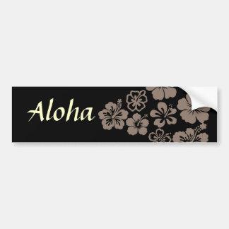 Mixed Gray Hibiscus Design Bumper Stickers
