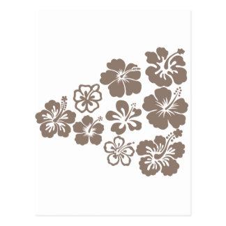 Mixed Gray Hibiscus Design Postcards