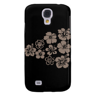 Mixed Gray Hibiscus Design Samsung Galaxy S4 Covers