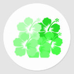 Mixed Green Hibiscus Stickers