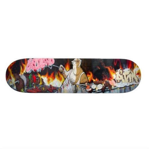 Mixed Grill - Hold The Krylon - Graffiti Sk8 Art Skateboard Decks