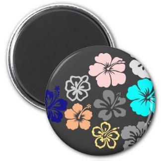 Mixed Hibiscus designs Magnet