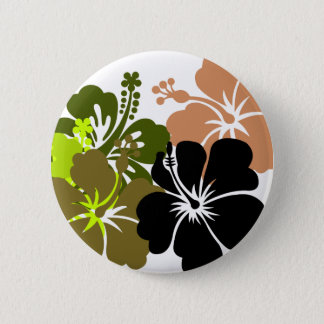 Mixed Hibiscus Pinback Button