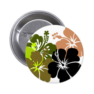 Mixed Hibiscus Pinback Button