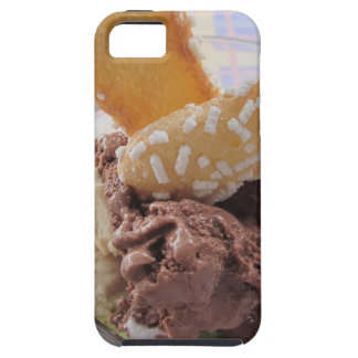 Mixed ice cream scoops with biscuits in bowl iPhone SE/5/5s case