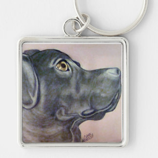 Mixed Lab Keychain Original artwork by Carol Zeock
